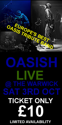 Oasish Tribute Band Live at The Warwick